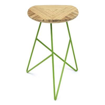 Acute 26 Bar Stool Color: Natural, Leg Color: Apple - Green