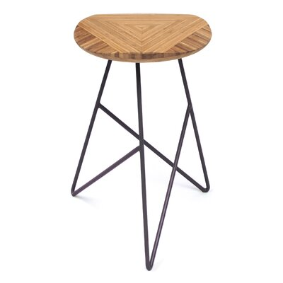 Acute 26 Bar Stool Color: Amber, Leg Color: Dark Plum