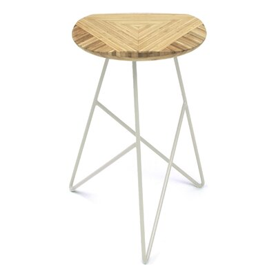Acute 26 Bar Stool Color: Natural, Leg Color: Cream