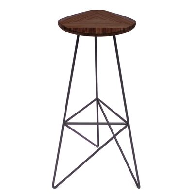 Acute 30 Bar Stool Finish: Chocolate, Leg Color: Dark Plum