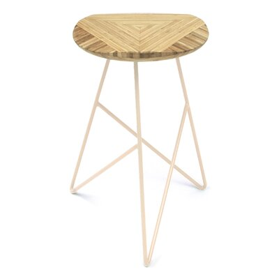 Acute 26 inch Bar Stool Leg Color: Peach, Finish: Natural