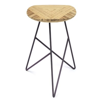 Acute 26 Bar Stool Color: Natural, Leg Color: Dark Plum