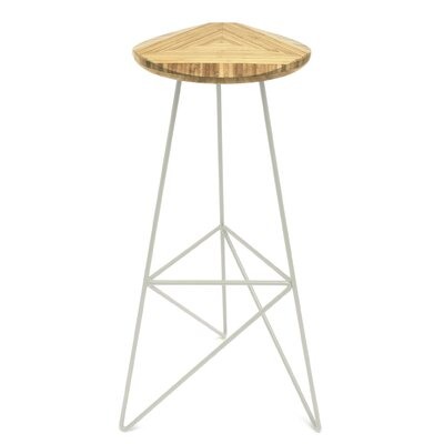 Acute 30 Bar Stool Color: Natural, Leg Color: Cream