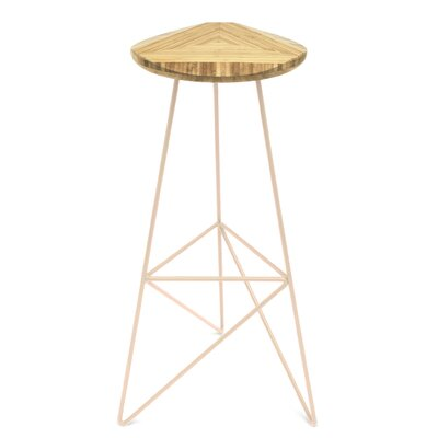 Acute 30 Bar Stool Finish: Natural, Leg Color: Peach