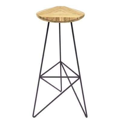 Acute 30 Bar Stool Color: Natural, Leg Color: Dark Plum
