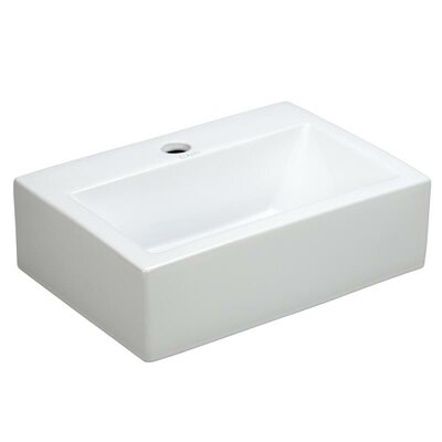 Porcelain 17 Wall mount Bathroom Sink
