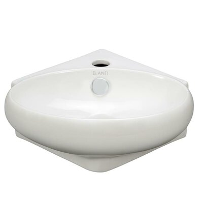 Porcelain 14 Wall mount Bathroom Sink