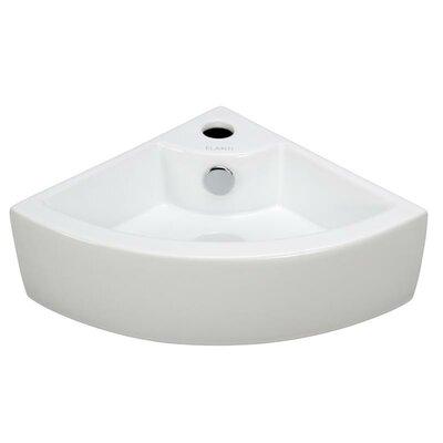 Porcelain18 Corner Bathroom Sink