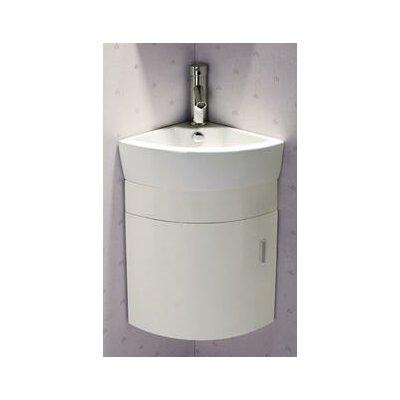 17.5 Single Melamine Wall Hung Corner Bathroom Vanity Set