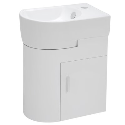 11 Single Wall Hung Bathroom Vanity Set