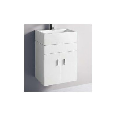 17 Single Melamine Wall Hung Bathroom Vanity Set