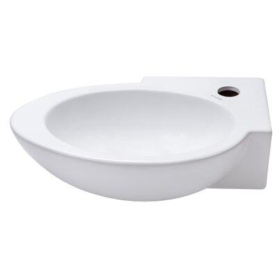 Ceramic 17 Wall Mount Bathroom Sink