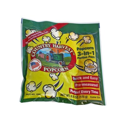 Country Harvest Popping Corn Portion Pack Size: 4 oz. 1000