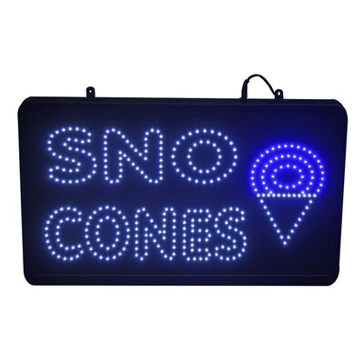 LED Sno Cone Sign