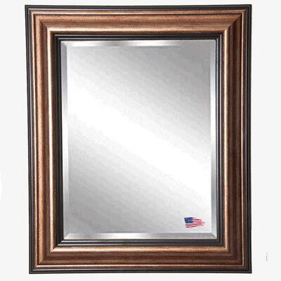 "Antique Canyon Bronze and Black Wall Mirror Size: 45.5"" H x 39.5"" W x 1"" D"
