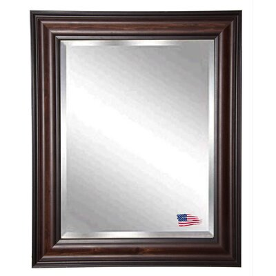 "Jovie Jane American Walnut Wall Mirror Size: 31.5"" H x 25.5"" W x 1"" D"