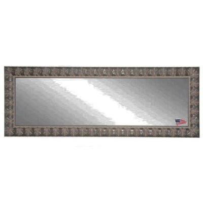 Feathered Accent Double Vanity Wall Mirror Size: Large