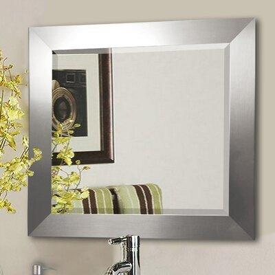 "Jovie Jane Silver Wide Wall Mirror Size: 31.5"" H x 27.5"" W x 0.75"" D"
