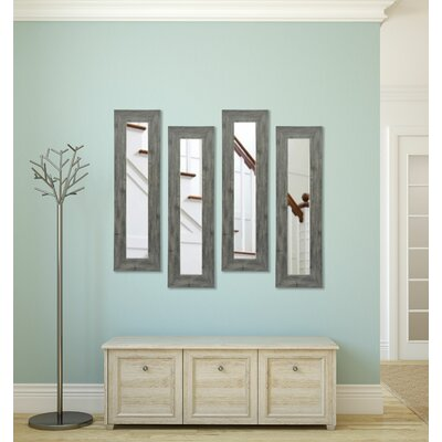 Rayne Mirrors Molly Dawn Grey Barnwood Mirror Panels (Set of 4) - Size: 29.5