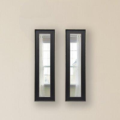Rayne Mirrors Molly Dawn Vintage Black Mirror Panels (Set of 2) - Size: 30.5