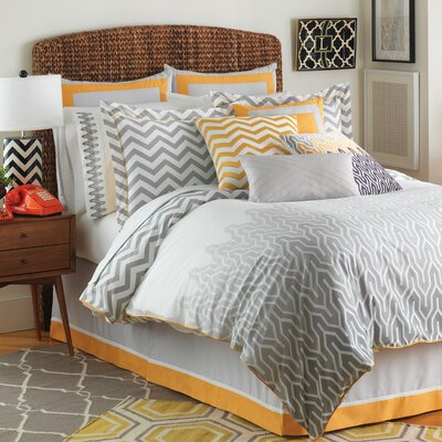 Plimpton Flame Reversible Comforter Set Size: King