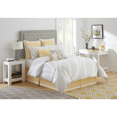 Groton Swirl Bed Skirt Size: Queen
