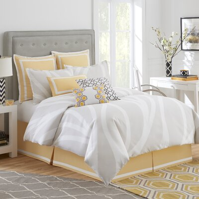 Groton Swirl Comforter Set Size: California King