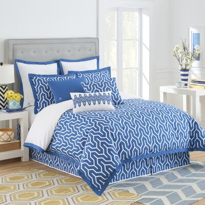 Plimpton Flame Reversible Comforter Set Size: Queen