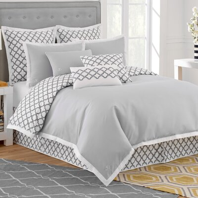 Quatrefoil Reversible Duvet Cover Size: Full/Queen