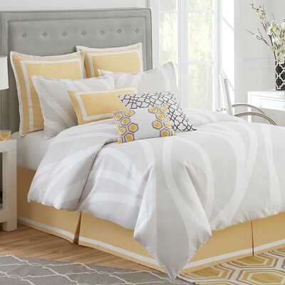 Groton Swirl Duvet Cover Size: Full / Queen