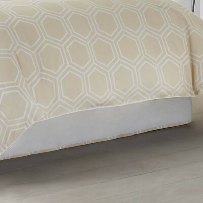 Hexagon 300 Thread Count Bed Skirt Size: Twin, Color: Parchment Beige