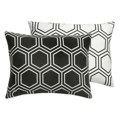 Hexagon Sham Color: Black Onyx, Size: Standard