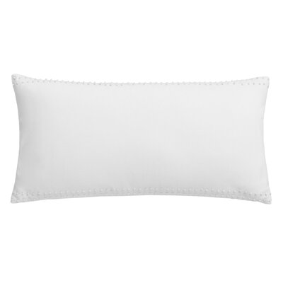 Hexagon French Knot Cotton Breakfast Pillow