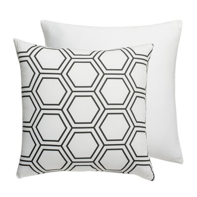 Hexagon Square Sham Color: Black Onyx