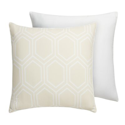 Hexagon Square Sham Color: Parchment Beige