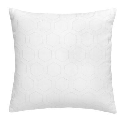 Hexagon Square Eyelet Cotton Throw Pillow