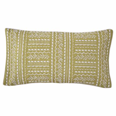 Grandiflora Line Embroidered Decorative Lumbar Pillow