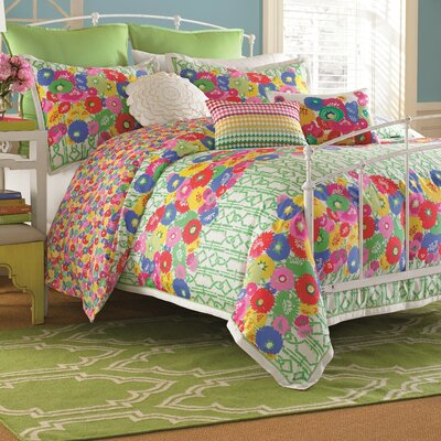 English Bloom Duvet Cover Size: Full/Queen