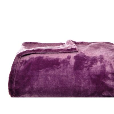 Nicole Miller Home Ultra Soft Plush Polyester Blanket - Size: Full/Queen, Color: Plum at Sears.com