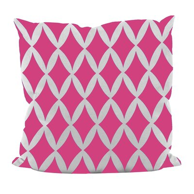 Geometric Decorative Throw Pillow Size: 16 x 16, Color: Fuchsia