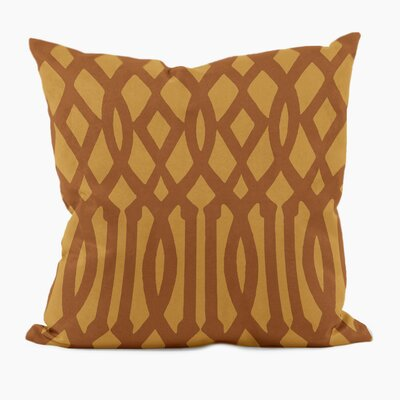 Trellis Decorative Throw Pillow Size: 16 H x 16 W, Color: Ginger