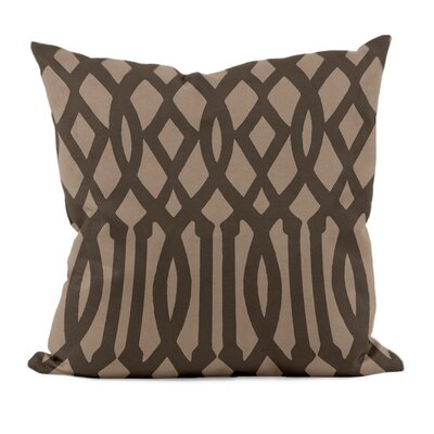 Trellis Decorative Throw Pillow Size: 18 H x 18 W, Color: Ginger Black