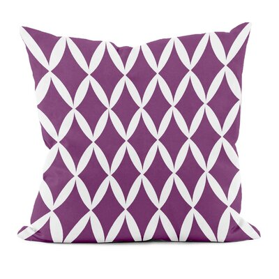 Geometric Decorative Throw Pillow Size: 20 H x 20 W, Color: Purple