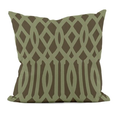 Trellis Decorative Throw Pillow Size: 18 x 18, Color: Sage