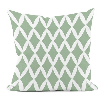 Geometric Decorative Throw Pillow Size: 18 x 18, Color: Margarita Green