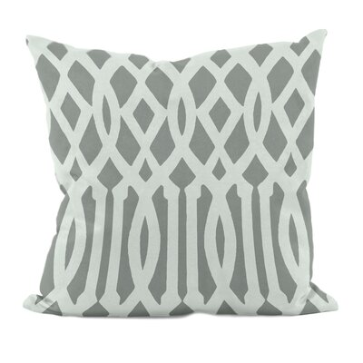 Trellis Decorative Throw Pillow Size: 16 x 16, Color: Grey