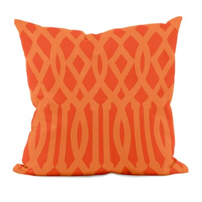 Trellis Decorative Throw Pillow Size: 16 x 16, Color: Pumpkin