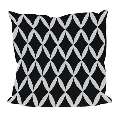 Geometric Decorative Throw Pillow Size: 16 H x 16 W, Color: Black