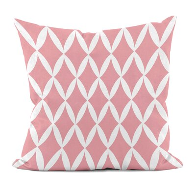 Geometric Decorative Throw Pillow Size: 16 x 16, Color: Pink