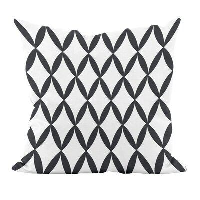 Geometric Decorative Throw Pillow Size: 16 H x 16 W, Color: White